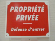 PANCARTE AKYLUX PROPRIETE PRIVEE