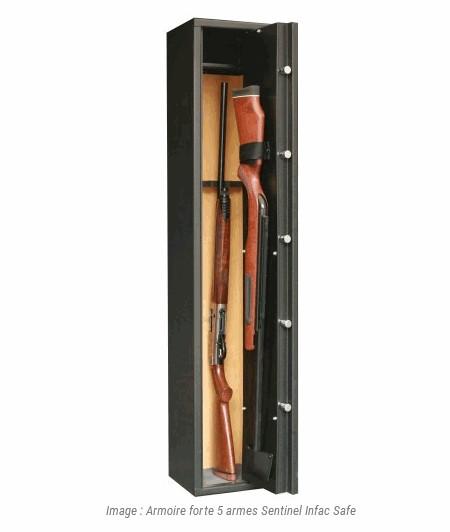 armoire forte 5 armes sentinel infac safe accessoires de. Black Bedroom Furniture Sets. Home Design Ideas