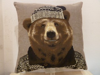 COUSSIN OURS HABILLE