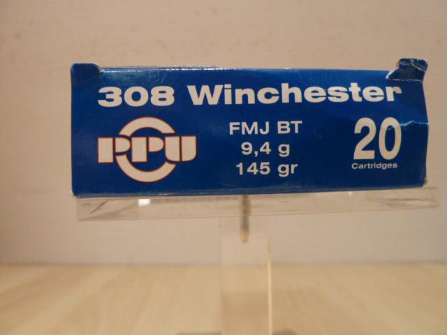 BOITE DE 20 CARTOUCHES PARTIZAN CALIBRE 308 WINCHESTER 145GR