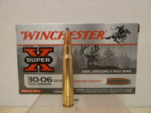 BOITE DE 20 CARTOUCHES WINCHESTER CALIBRE 30-06 POWER-POINT 150 GRS