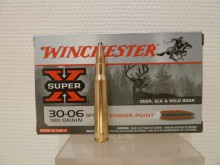 BOITE DE 20 CARTOUCHES WINCHESTER CALIBRE 30-06 POWER-POINT 180 GRS